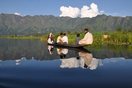 Sailing on Dal lake, Srinagar