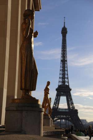 trocadero: Trocadero and Eiffel Tower
