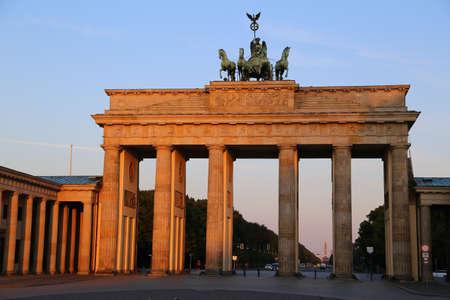 Brandenburger tor at sunrise photo