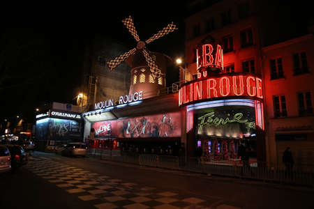 moulin: the Moulin Rouge by night,