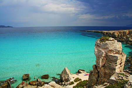the wonderful beach island.Sicily in Favignana, Italy Stock Photo