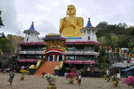 sri lanka temple: Dambulla  Golden Temple in Sri Lanka