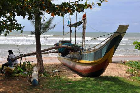 srilanka: fishing boat in Sri-Lanka Stock Photo