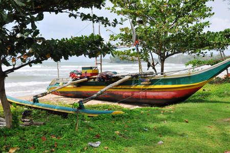 srilanka: fishing boats in Sri-Lanka Stock Photo