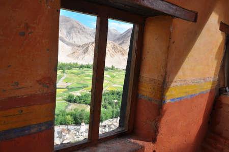 ladakh: View of Ladakh valley from Thiksey monastery