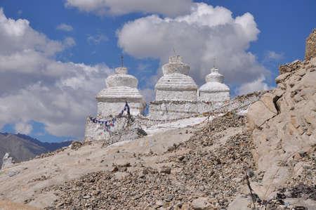 stupas: Stupas in Ladakh, India