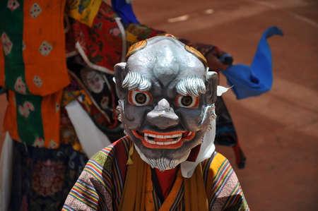 gompa: mystic mask dances in Chemrey Festival at Chemrey Monastery (gompa)