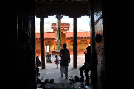 shanti: Chemdey gompa, Buddhist monastery in Ladakh