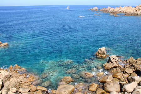 italy landscape: Landscape of sardinia coast Italy Stock Photo