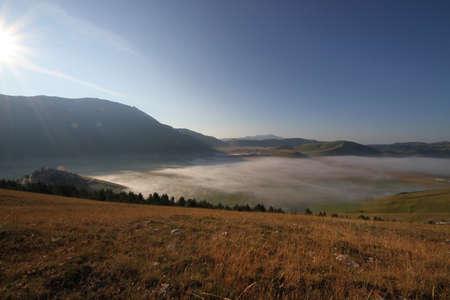 castelluccio di norcia: Landscape of Castelluccio di Norcia Stock Photo
