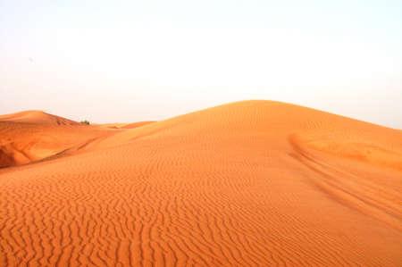 inhospitable: sand dunes in desert Stock Photo