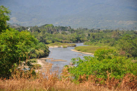 lore: panorama of traditional Indonesian landscape near Lore Lindu, Sulawesi