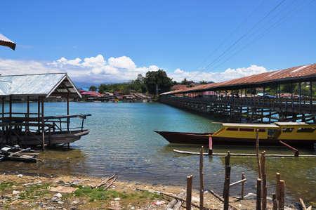sulawesi: Boat in Tentena, Sulawesi