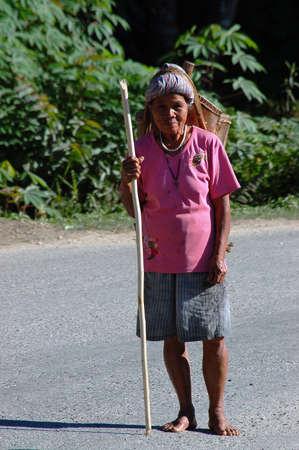 destitution: Unidentified people work in Singkang