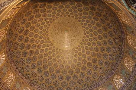 Inside Sheikh Lotfollah Mosque in Isfahan