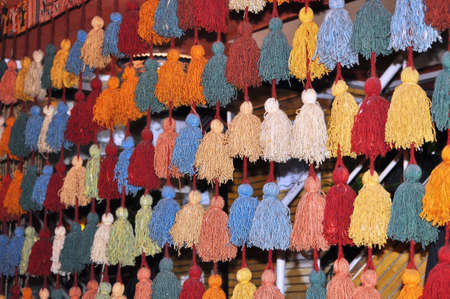 suq: Iran national traditional textile in ancient market
