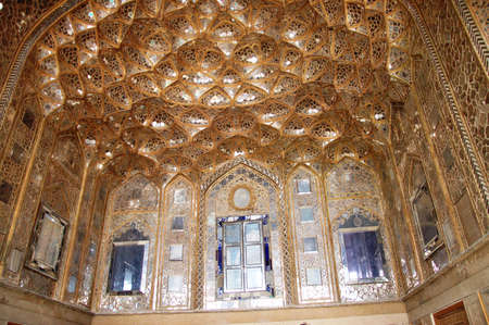 Beautiful detail in Chehel Sotoun Palace in Isfahan,Iran