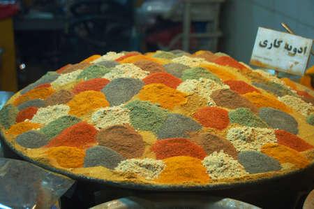 Inside spice market at Isfahan Grand Bazaar,