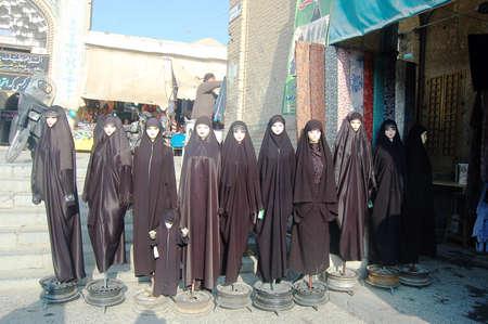 Main street of market Bazaar in Isfahan