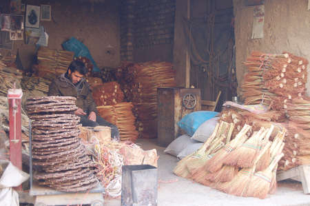 Traditional iranian market (Bazaar) Stock Photo