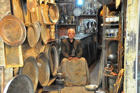 isfahan: Traditional iranian souvenirs in market Bazaar in Isfahan Iran Editorial