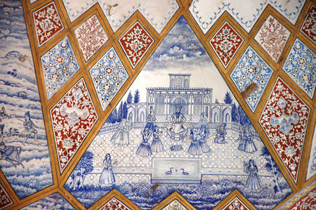 congregational: Details of the Jameh or Friday or congregational Mosque in Esfahan