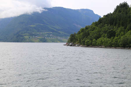 Hardangerfjord in south western Norway in the summer