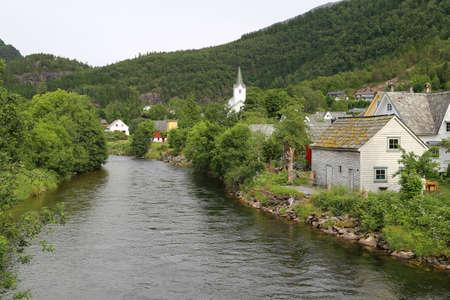 Hardangerfjord in south western Norway in the summer