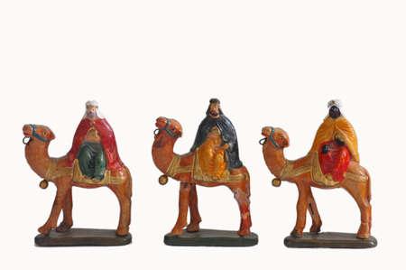 melchior: Magi figurines ceramic on white backround
