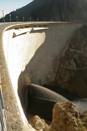 Releasing water dam. Spain. Фото со стока