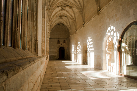 Gothic cloister in el Burgo de Osma Cathedral. Taken with Canon EOS 400D and processed with Adobe Photoshop CS5.