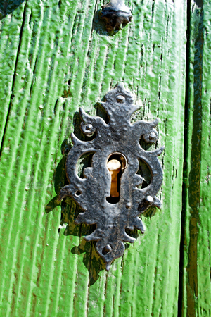 Old door lock. Stock Photo