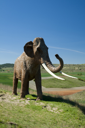 paleontologist: Recreation of a Mammoth in Ambrona.