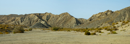 Desert Tabernas. landscape in Almeria province, Spain. This place was the background of many west movies. Banco de Imagens