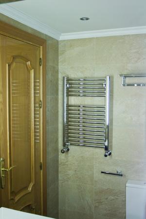 Interior of a bathroom reflecting in a mirror Banco de Imagens - 120659175