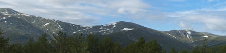 Snowy peaks of the Sierra de Guadarrama Banco de Imagens