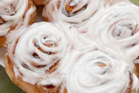 homemade cinnamon buns.  Stock Photo - 17805375
