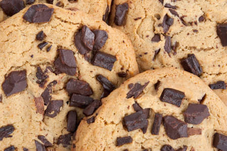 Close-up homemade chocolate chip cookies. Stock Photo - 17805427