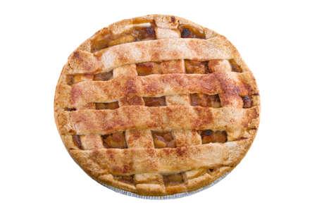 tarta de manzana: pastel de manzana en un fondo blanco aislado.
