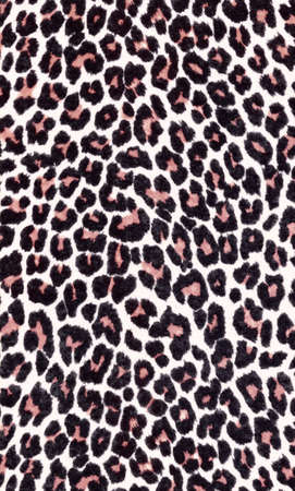 animal print background made with fabric. High resolution scan. Stock Photo