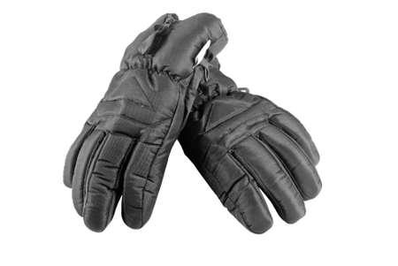 ski gloves on an isolated white background.  Stock Photo