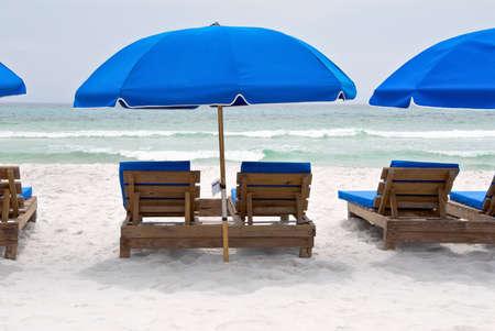 beach chairs on a Florida beach.