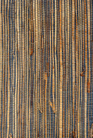 grasscloth wallpaper. This paper is made of natural fibers such as reed and other materials. Old-fashioned from 1985. High resolution scan.