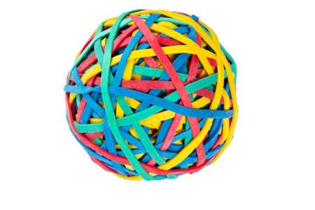 Rubber bands on an isolated white background.