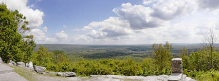 overlook: Beautiful panoramic view at the overlook in Pine Mountain Georgia USA at FDR President Franklin D Roosevelt state park. Stock Photo