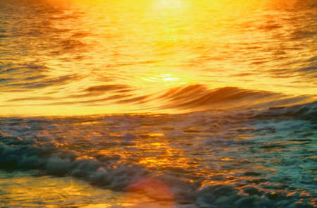 Beautiful sunrise over the Atlantic Ocean. This is computer generated art from a photograph. Stock Photo