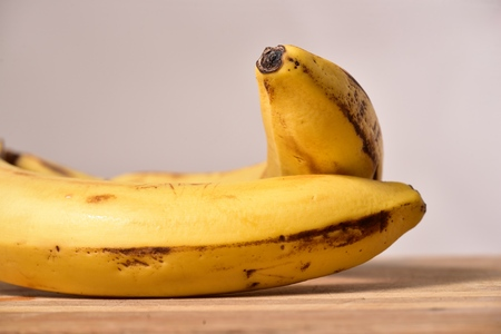 bananas isolated 写真素材