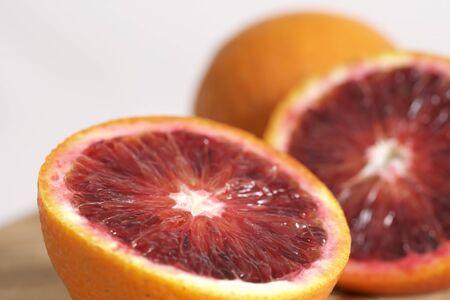 Blood orange sliced and juicy