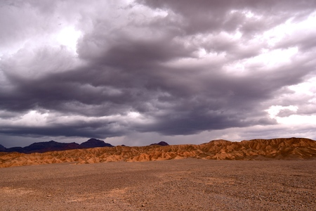 Desert Landscape of approaching storm in Death Valley