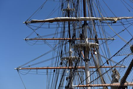 Rigging on an old clipper ship